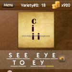 Level Variety 2 18 See eye to eye