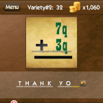 Level Variety 2 32 Thank you
