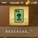 Level Variety 2 34 Green card