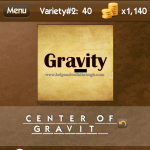 Level Variety 2 40 Center of gravity
