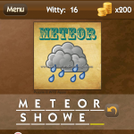 Level Witty 16 Meteor shower